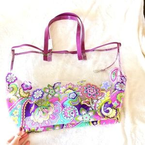 Vera Bradley Paisley Large Clear Tote